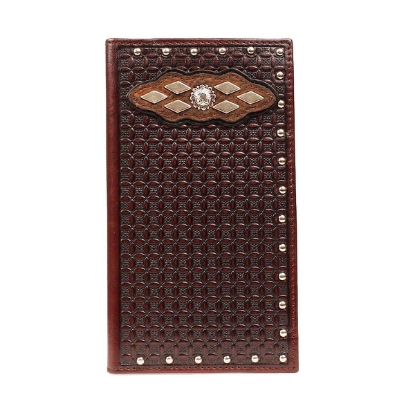 Ariat Western Wallet Mens Rodeo Tooled Leather Brown - One size