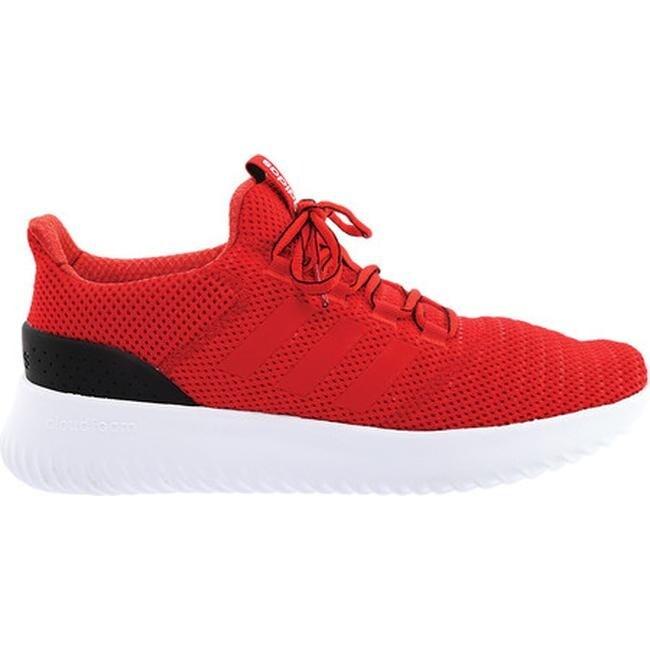 adidas Men's NEO Cloudfoam Ultimate Running Shoe ScarletScarletHi Res Red