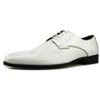 Stacy Adams Florio Men Round Toe Leather White Oxford