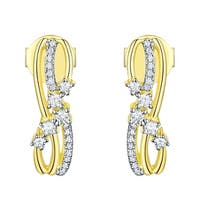 Prism Jewel 0.21Ct G-H/SI1 Natural Diamond Light Weight Stylist Push Back Earring - N/A - White G-H