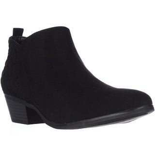 SC35 Wessley Semi-Quilted Short Booties - Black
