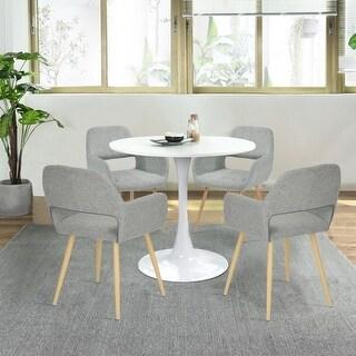 Carson Carrington Saimovaara Modern Linen Dining Chair (Set of 2)