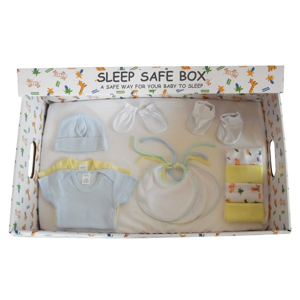 Boy 16 Piece Baby Starter Set Box - Size - Newborn - Boy