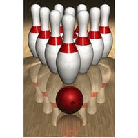Poster Print entitled Bowling Pins and Ball - multi-color