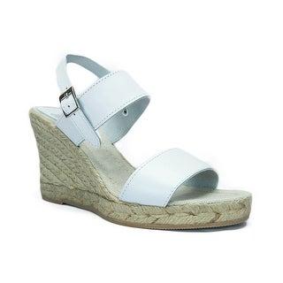 SKA ASIA V7N White Espadrille Strapy Wedge Sandals