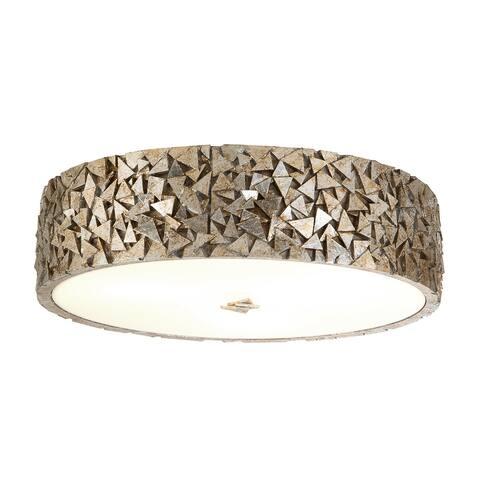Mosaic 3-Light flushmount in Silver