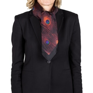 Givenchy Women's Peacock Feather Pattern Silk Scarf