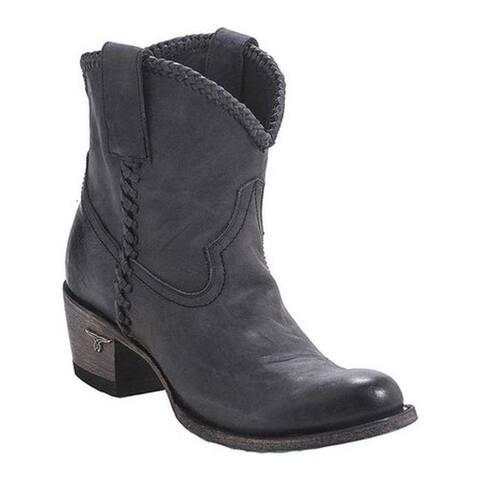 Lane Boots Women's Plain Jane Shortie Ankle Boot Black Oiled Full Grain Leather