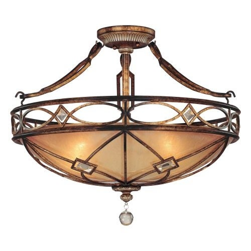 Minka Lavery ML 6757 3 Light Semi-Flush Ceiling Fixture from the Aston Court Collection