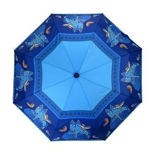 Laurel Burch Indigo Cats Compact Umbrella