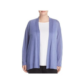 Eileen Fisher Womens Plus Cardigan Sweater Open Long Sleeve - 1X