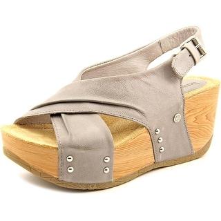 Bussola Style Formentera Women Open Toe Leather Wedge Heel