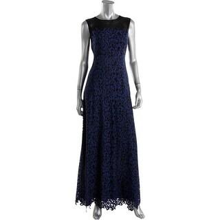 Elie Tahari Womens Elettra Lace Prom Evening Dress