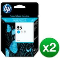 HP 85 28-ml Cyan DesignJet Ink Cartridge (C9425A) (2-Pack)