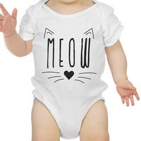 Meow Infant Bodysuit Gift White