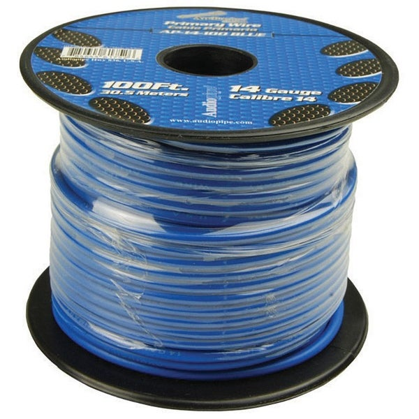 Shop Audiopipe 14 Gauge 100Ft Primary Wire Blue - Free Shipping On ...