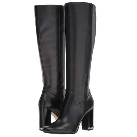 Michael Kors Womens Walker Leather Almond Toe Knee High Fashion Boots