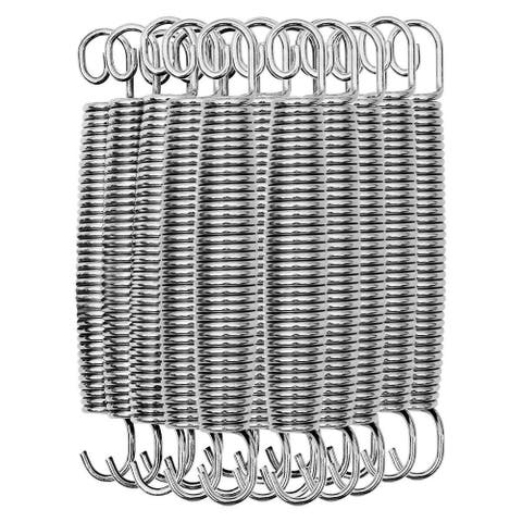 """20 pcs 7"""" Heavy-Duty Galvanized Steel Trampoline Springs Replacement Kit-Silver - 7"""""""