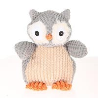 Giftable World A08044 9 in. Nice N Knitted Owl - Gray