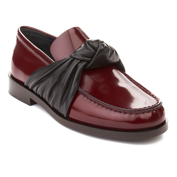 Céline Women's Leather Loafer Shoes Maroon