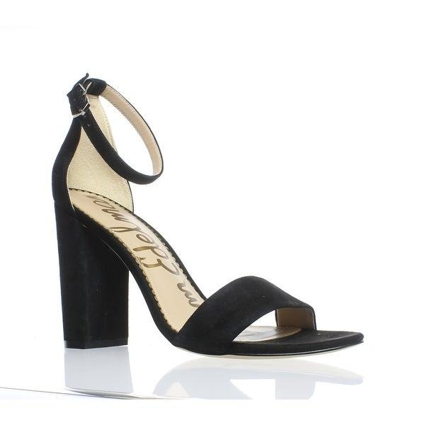 5c0d23e6aade8 Shop Sam Edelman Womens Yaro Black Suede Ankle Strap Heels Size 9 ...