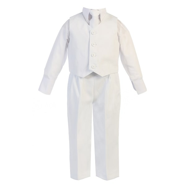 c21a2e0960 Big Boys White Vest Pants Special Occasion Easter Outfit Set 8-14