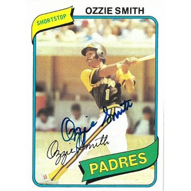 Ozzie Smith Signed 1980 Topps San Diego Padres Trading Card 393