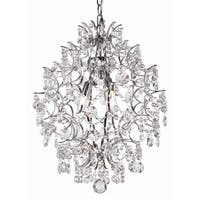 Trans Globe Lighting HH-3 3 Light 1 Tier Crystal Abstract Chandelier