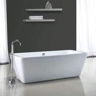 "Miseno MT6932FSR 68-9/10"" Soaking Bathtub for Free Standing Installations with C - White"