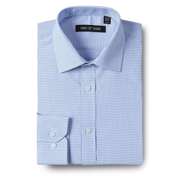 Mens Dress Shirt Slim Fit Checkered Long Sleeve Dress Shirts For Men. Opens flyout.