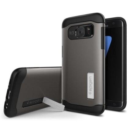 Spigen, Inc. Slim Armor Samsung Galaxy S7 Edge in Gunmetal - 556CS20038