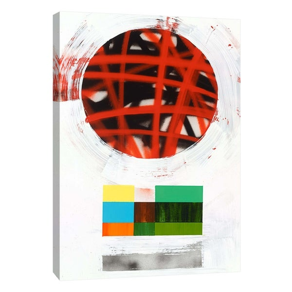 """PTM Images 9-108842 PTM Canvas Collection 10"""" x 8"""" - """"Lenticular D"""" Giclee Abstract Art Print on Canvas"""
