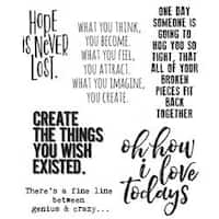 """Ponderings - Tim Holtz Cling Stamps 7""""X8.5"""""""
