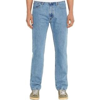 Levi's Mens 505 Straight Leg Jeans Light Wash Regular Fit