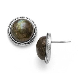 Chisel Stainless Steel Polished Labradorite Post Earrings