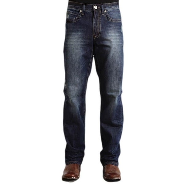 Stetson Western Denim Jeans Mens Royal