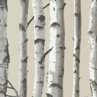 Brewster 2532-20418 Irvin Grey Birch Tree Wallpaper