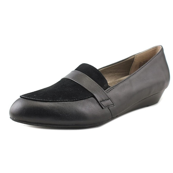 Array Ella Women N/S Round Toe Leather Black Loafer