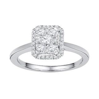 1/3Ctw Diamond Fashion Ring - White