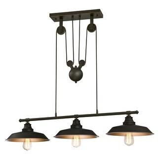 "Westinghouse 6332500 Iron Hill 3 Light 39-15/16"" Wide Linear Chandelier - Oil Rubbed bronze"