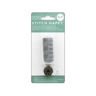 660705 We R Memory Stitch Happy Thread Bobbin Mtlc Silver
