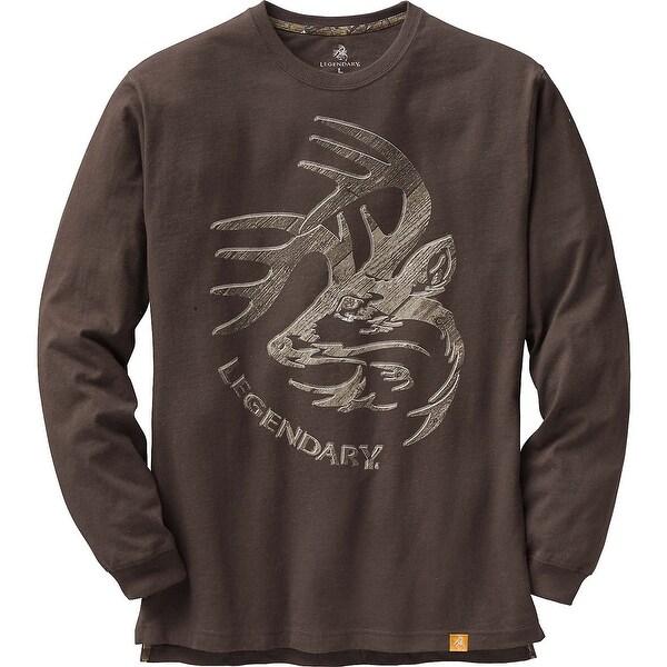 Legendary Whitetails Men's Signature Series Long Sleeve T-Shirt - Chocolate