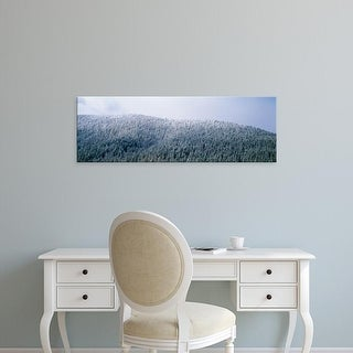 Easy Art Prints Panoramic Images's 'USA, Montana, Gallatin National Forest, winter' Premium Canvas Art