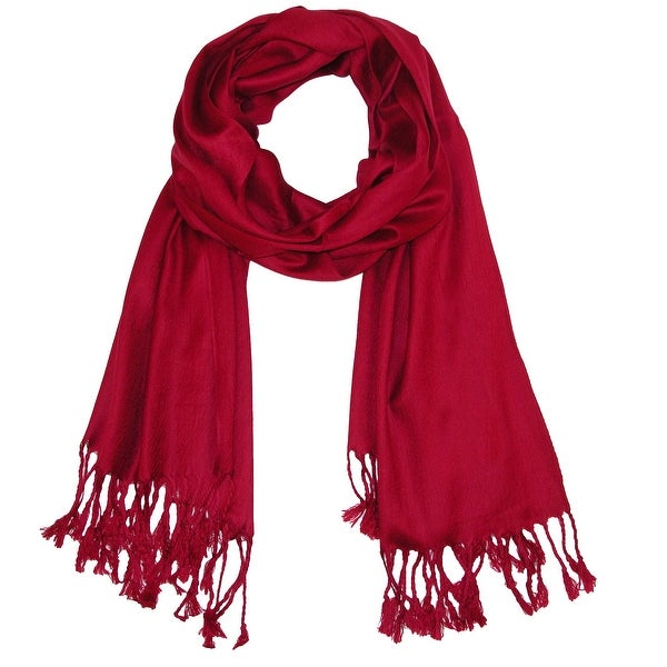 CTM® Women's Classic Pashmina Shawl Wraps - One size