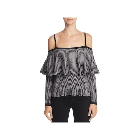 BB Dakota Womens Debney Sweater Off-The-Shoulder Wool Blend