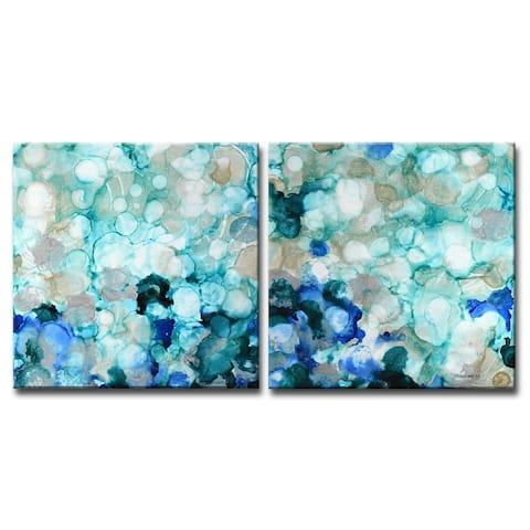 'Mermaid Pearls I/II' Wrapped Canvas Wall Art by Norman Wyatt Jr.