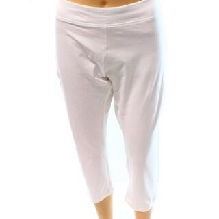 Designer Brand NEW White Women's Size XL Pull On Capri Cropped Pants