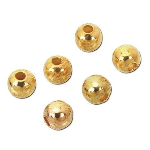 Sweet Beads Fund Find Bead 4mm Round 115pc Gold