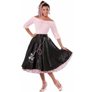 Forum Novelties Flirty 50s Poodle Skirt Adult Costume - Black - Standard