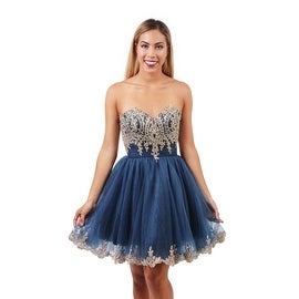 EJS Couture Strapless A-line Dress